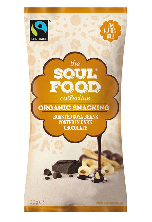 Soul Food Collective organic snack soy beans dark chocolate