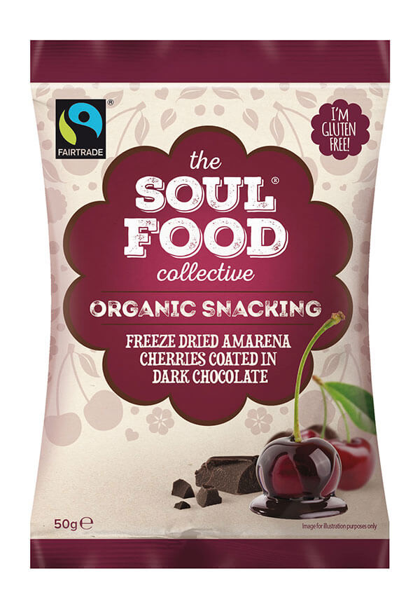 Soul Food Collective organic snack freeze drief cherries dark chocolate