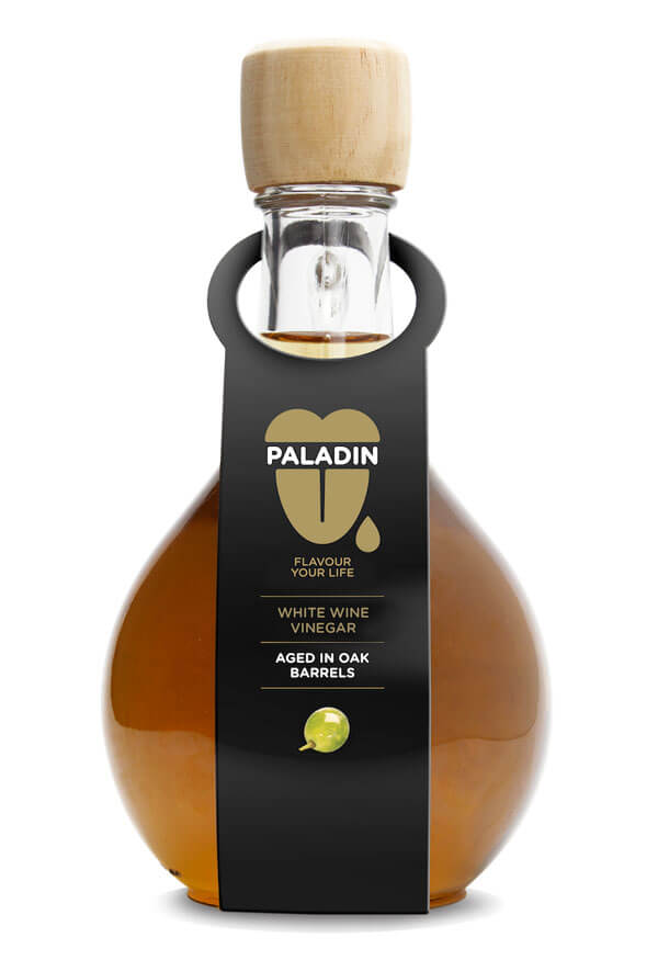 Paladin white wine vinegar aged in oak barrels