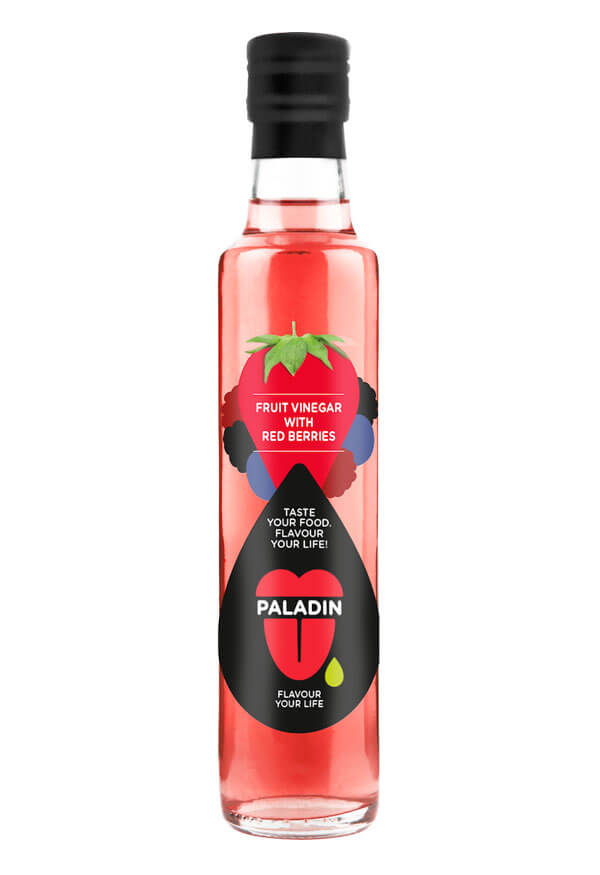 Paladin organic fruit vinegar with red berries
