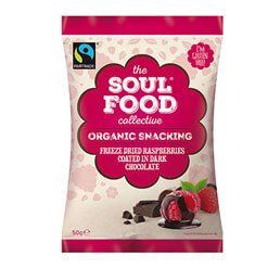 soul food collective dried raspberries coated in chocolate thumb