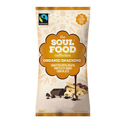 soul food collective organic snack soya beans & chocolate thumbnail
